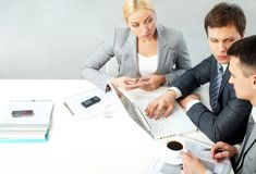 Working meeting Royalty Free Stock Image