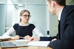 Working Meeting at Boardroom Stock Image