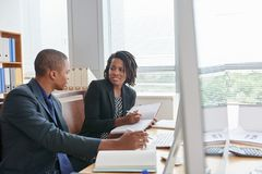 Working Meeting in Boardroom royalty free stock photo