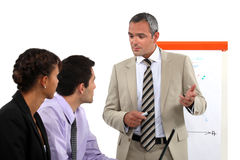 Working meeting royalty free stock image