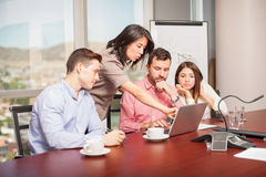 Working in a meeting room Royalty Free Stock Images