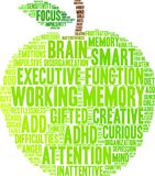 Working Memory Word Cloud. Working Memory ADHD word cloud on a white background Royalty Free Stock Image