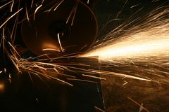 Working of metal Stock Image