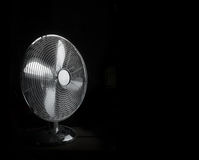 Working metal fan isolated on black Royalty Free Stock Photos