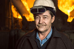 Working-Metallurgist stock photography