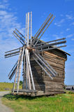 Working mill in russian village Stock Images