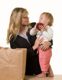 Working mom Royalty Free Stock Images