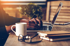 Working moments. Royalty Free Stock Images