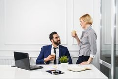 The Working Moments in Office Royalty Free Stock Images