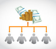 Working for the money concept diagram. Illustration design Stock Image
