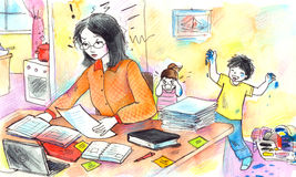 Working Mother stock illustration