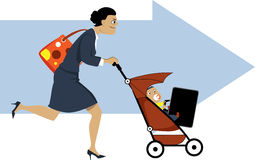 Working mother Royalty Free Stock Photo