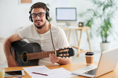 Working musician Royalty Free Stock Photo