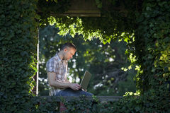 Working in the nature Stock Photos