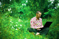 Working in nature Stock Photography