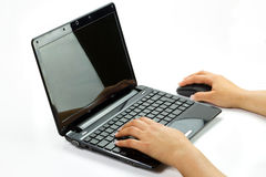 Working on netbook Royalty Free Stock Images