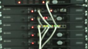 Working network equipment stock video footage