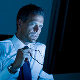Working at night Royalty Free Stock Photo