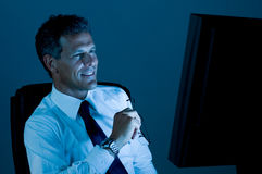 Working at night Royalty Free Stock Photos