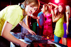 Working in night club Royalty Free Stock Photos