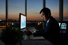 Working at night Stock Images