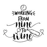 Working from nine to wine vector illustration