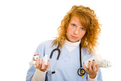 Working nurse Royalty Free Stock Photography
