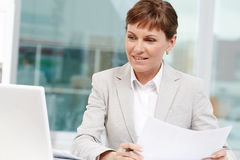 Working in office Royalty Free Stock Photos