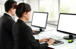 Working in the office Stock Images