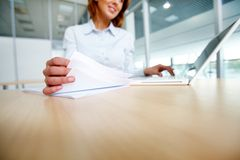 Working in office Royalty Free Stock Images