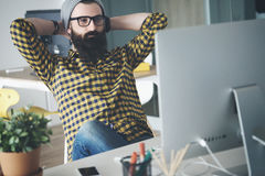Working at the office Royalty Free Stock Images