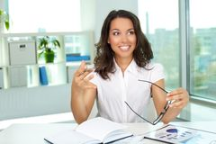 Working in office Stock Image
