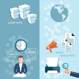 Working in the office stationery office businessman Royalty Free Stock Photo