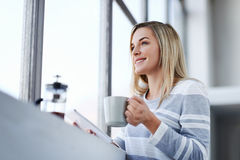 Working office woman Stock Photography