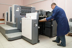 Working offset printer Stock Image