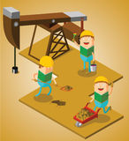 Working at oil field Royalty Free Stock Images