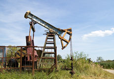Working oil pump Stock Images