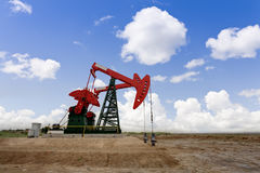 Working oil pump jacks Royalty Free Stock Photo