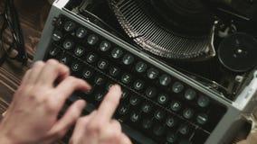Working on old typewriter stock video footage