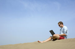 Free Working On The Beach5 Royalty Free Stock Photography - 1364977