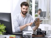 Working online Royalty Free Stock Image