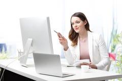 Working online Stock Image