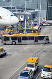 Working and operation in Hongkong Airport Royalty Free Stock Photography
