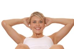 Working Out 10. Lovely young girl working out stock photography