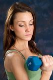 Working Out With Barbell Stock Photography