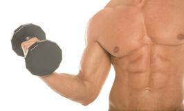 Working out with dumbbell Royalty Free Stock Photography