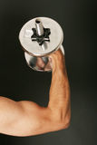 Working out with dumbbell Stock Photography