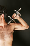 Working out with dumbbell Stock Photos