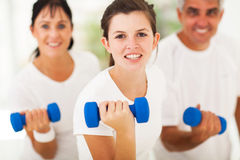 Working out dumbbell Royalty Free Stock Image