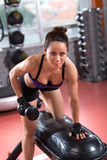 Working out with dumbbell Royalty Free Stock Photo
